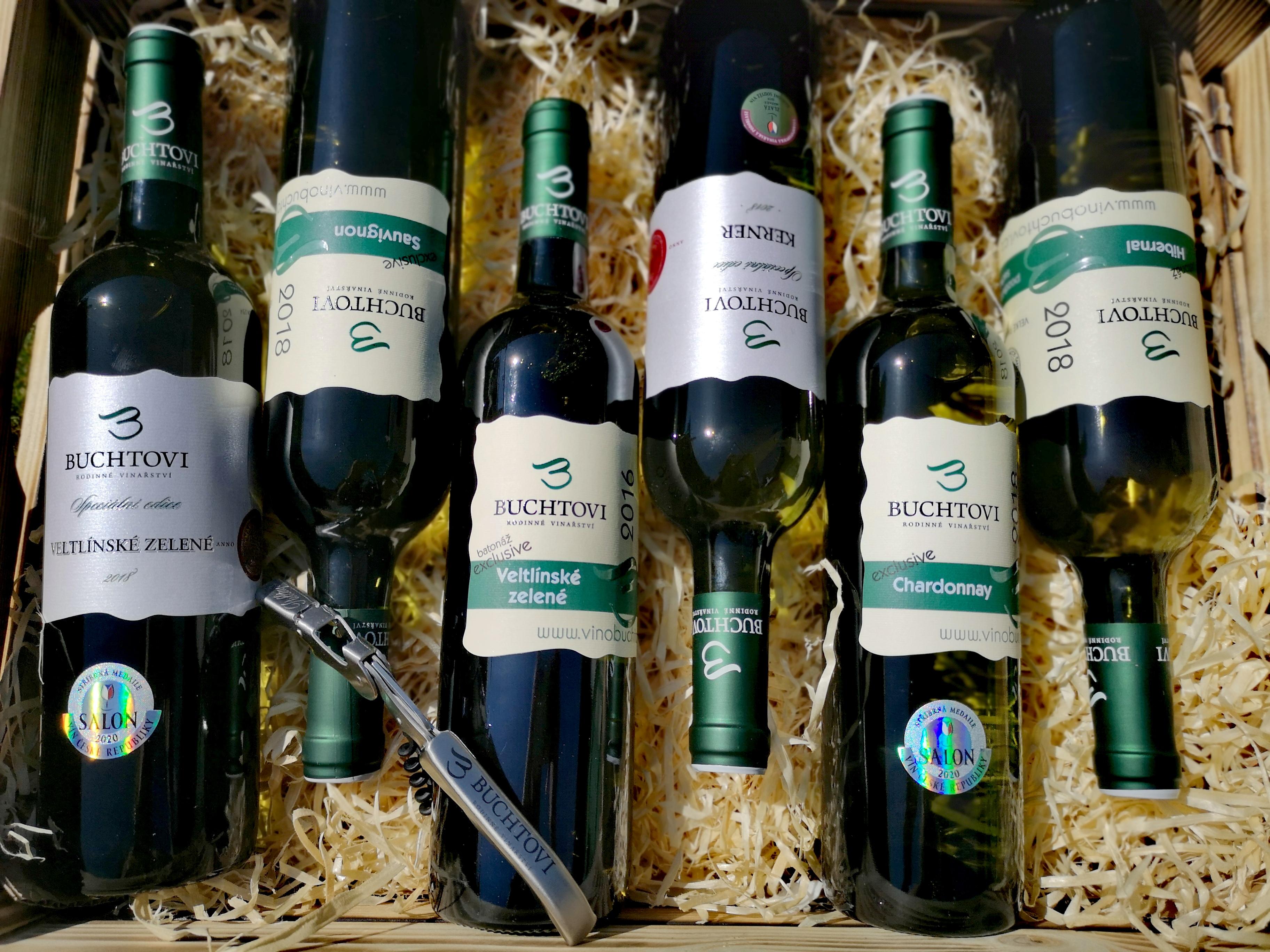1.Degustační krabička suchá / polosuchá vína + vývrtka s logem vinařství ZDARMA